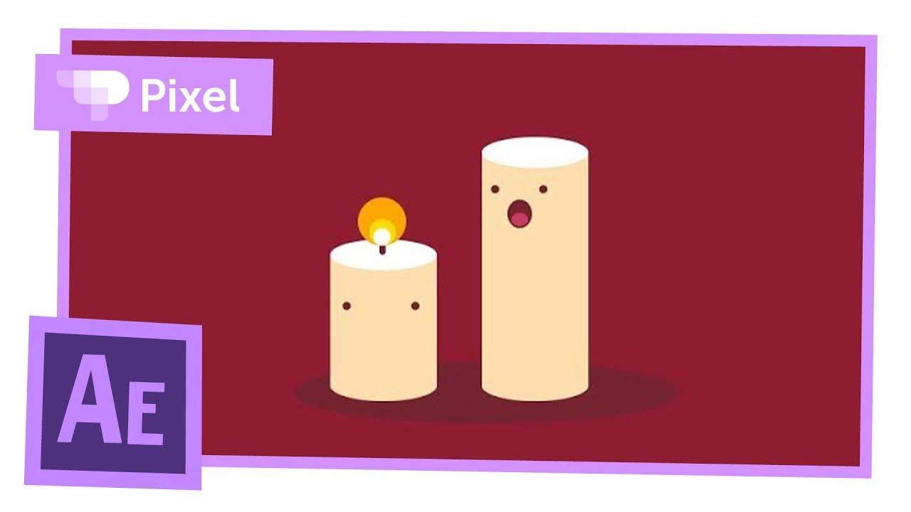 Анимация свечек в After Effects