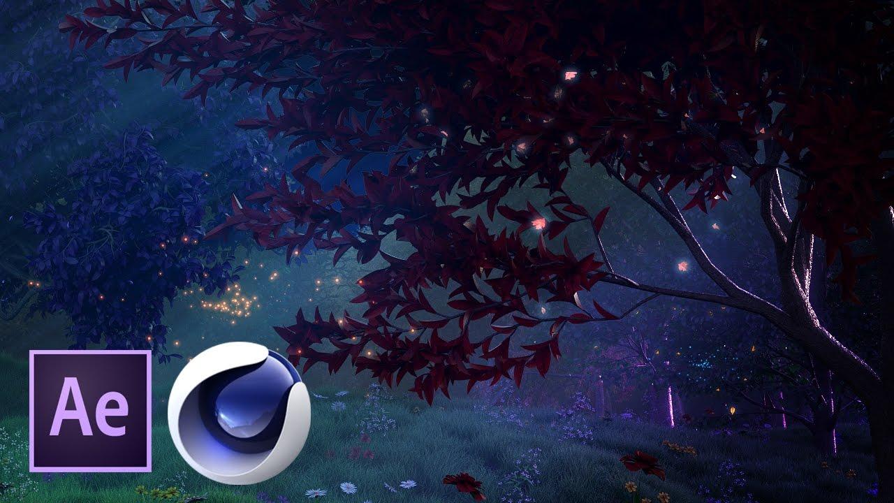 Сказочный лес в Cinema 4D и After Effects. Часть 4 из 4