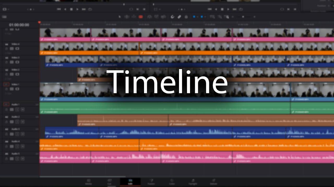 08. Timeline, они же секвенции. Создание и управление [DaVinci с нуля]
