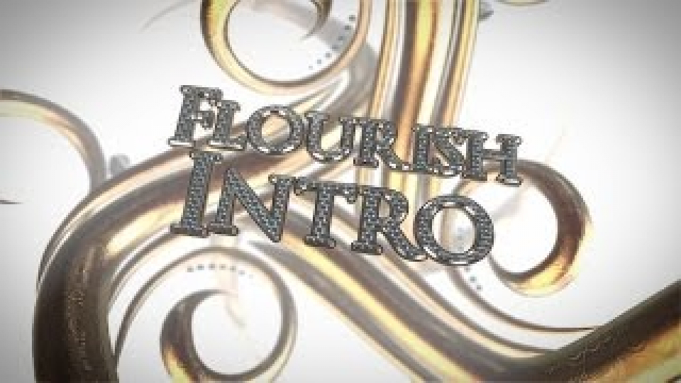 3D Flourish Intro [Free After Effects & E3D Project]