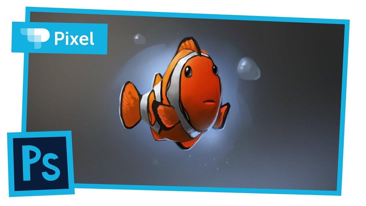 Уроки по Adobe Photoshop | рыбка немо