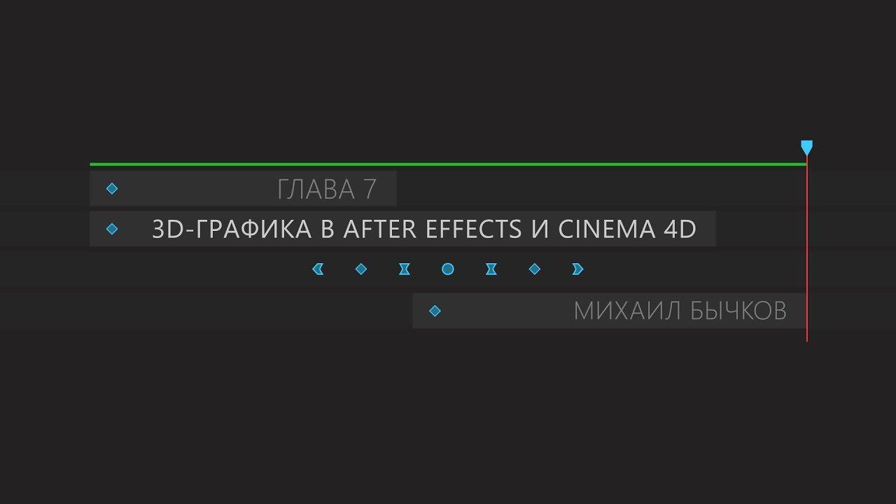 Обзор седьмой главы Создание 3D-графики при помощи связки After Effects и Cinema 4D