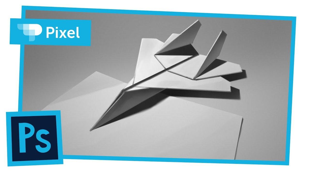 Рисуем бумажный самолет в Adobe Photoshop