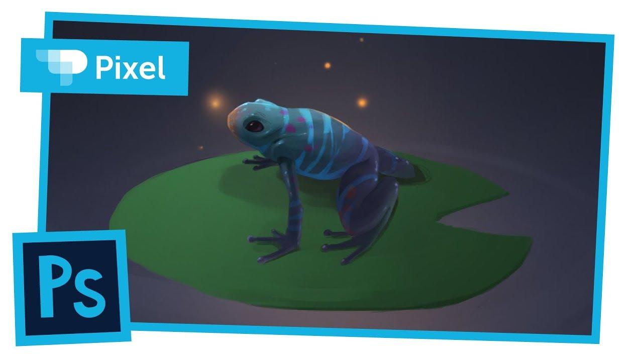Рисуем в Adobe Photoshop | лягушка