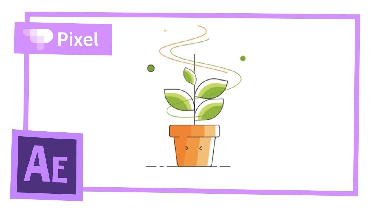 Анимация цветочного горшка в Adobe After Effects