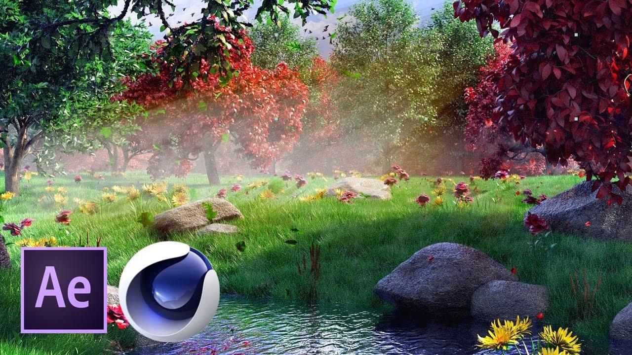 Сказочный лес в Cinema 4D и After Effects. Часть 2 из 4
