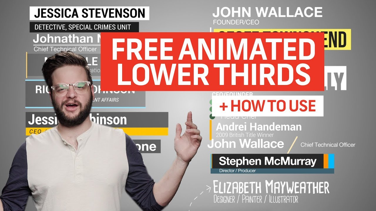 15 FREE ANIMATED LOWER THIRDS For Premiere (How To Use) | Free Assets and Elements
