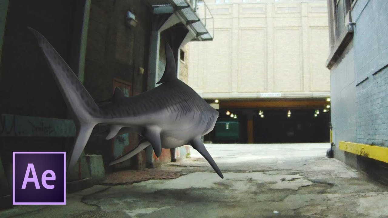 Вставка анимированного 3D-объекта в видео при помощи After Effects.