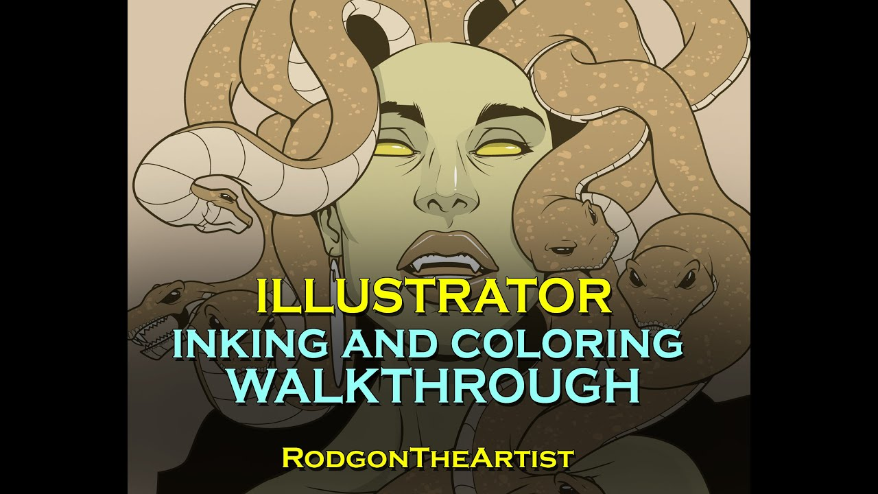 1 - ADOBE ILLUSTRATOR INKING AND COLORING PROCESS