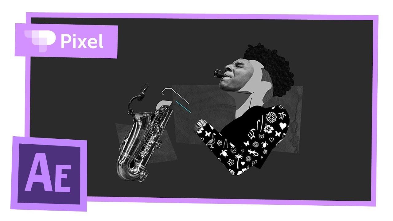 Анимация саксофониста в After Effects