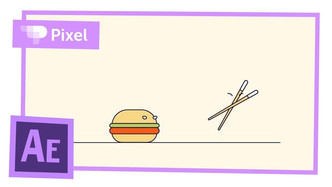 Бургер против палочек - анимация в After Effects