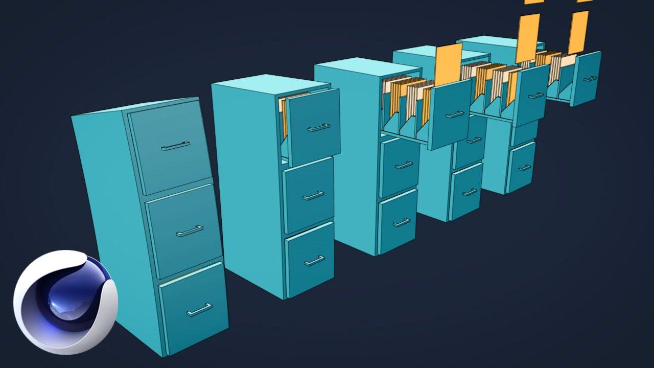 Флет-анимация ящиков в Cinema 4D (Sketch & Toon)