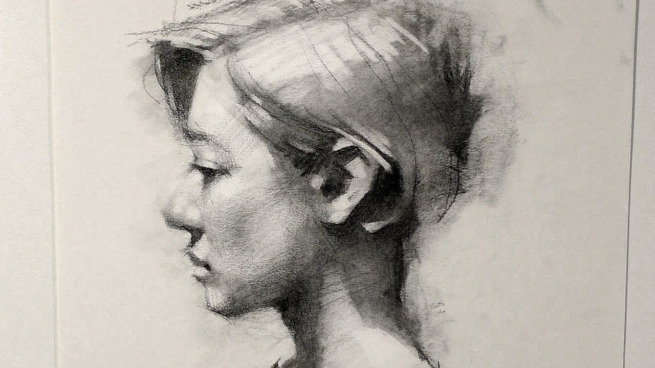 Charcoal Portrait Sketch - 'Emma'