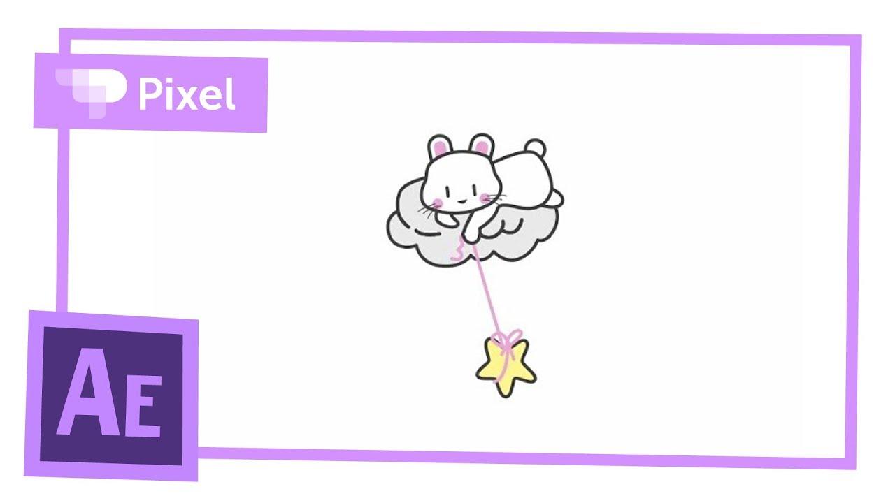 Кролик на облаке - создание анимации в After Effects