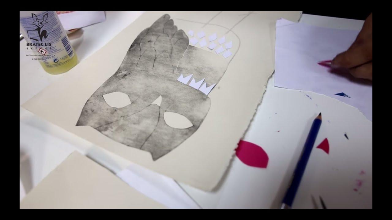 Коллаж из всевозможных техник при создании иллюстрации с Джули Ван Ваземаел