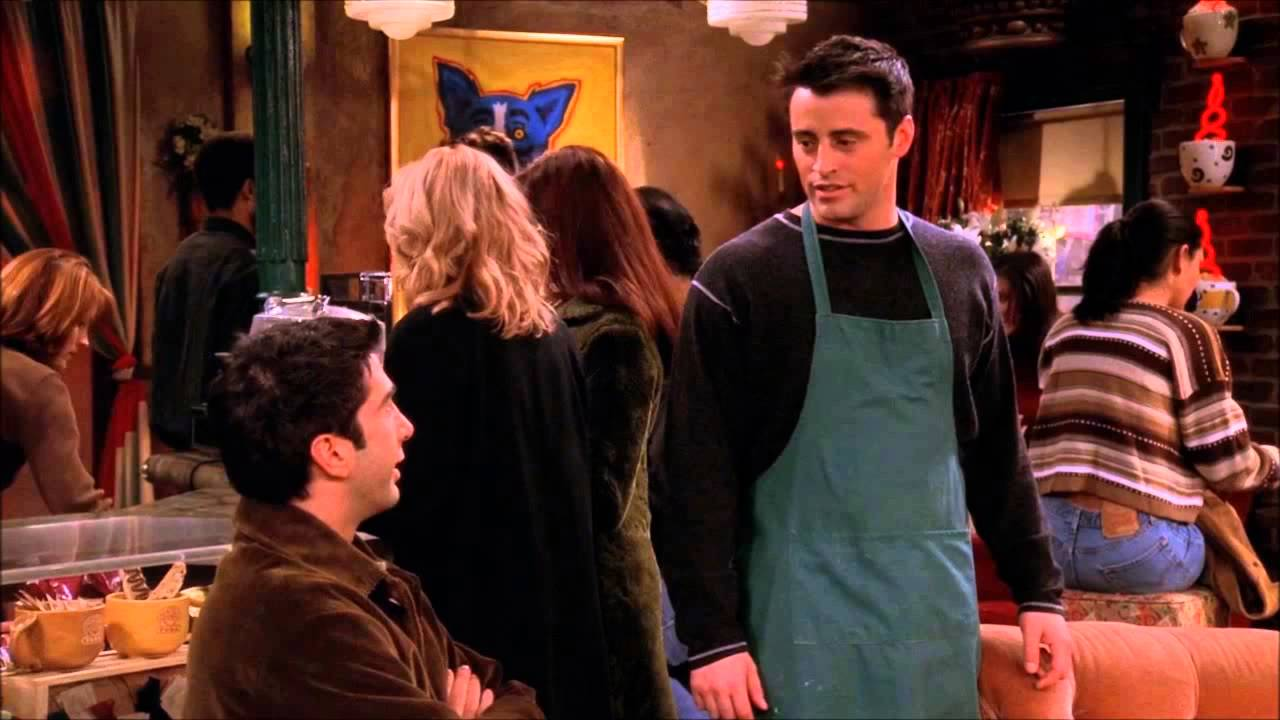 Friends - HD - Joey Works At Central Perk