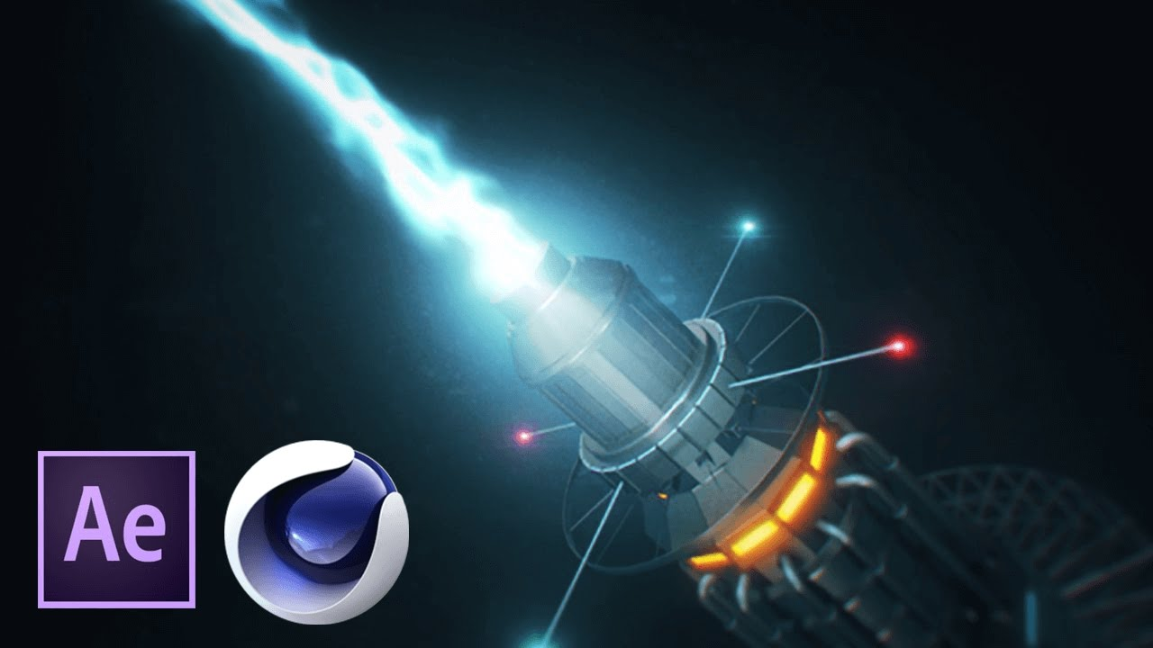 Плазменная sci-fi пушка в Cinema 4D и After Effects