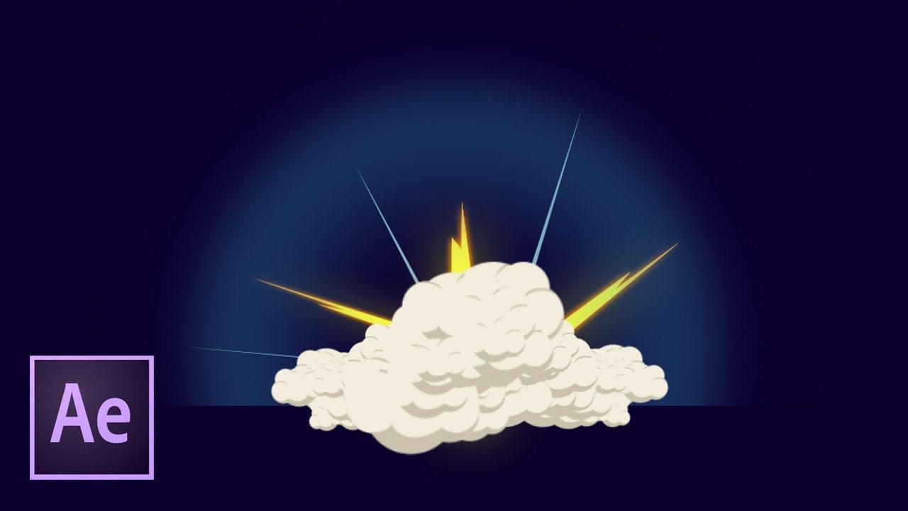 Динамичный 2D взрыв в After Effects