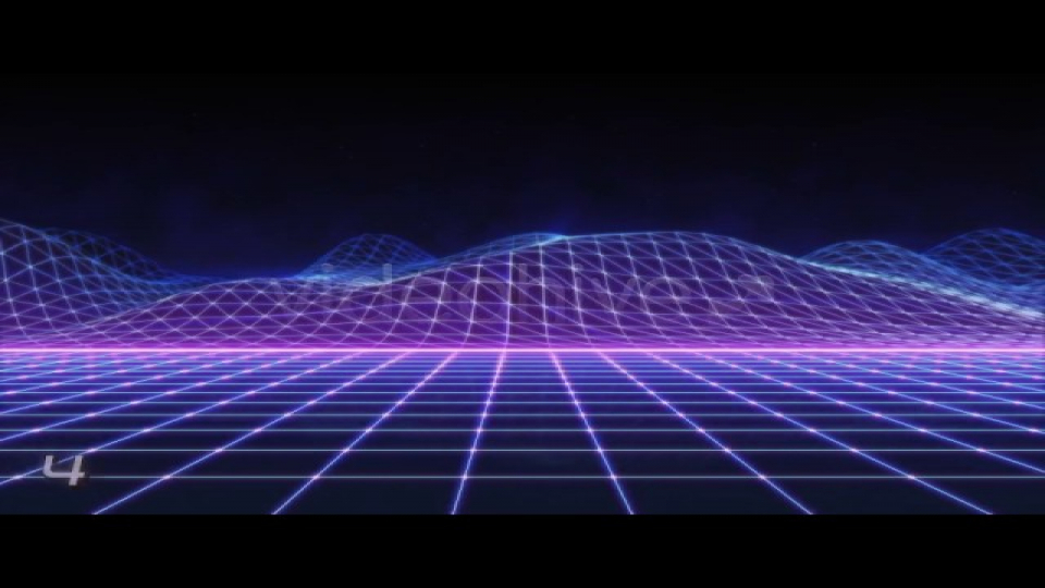 80s Retro Futurism Background Pack vol.2 4K Motion Graphics