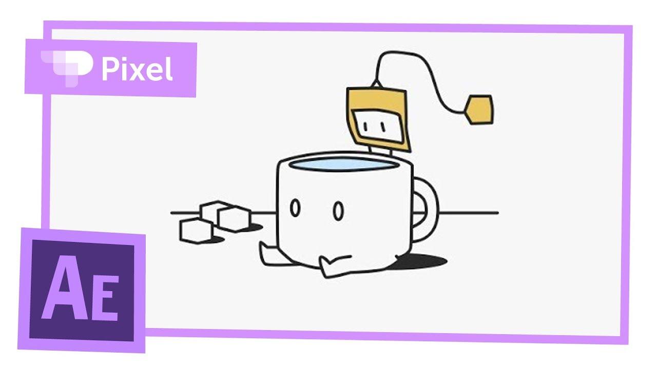 Анимация чайного пакетика в Adobe After Effects