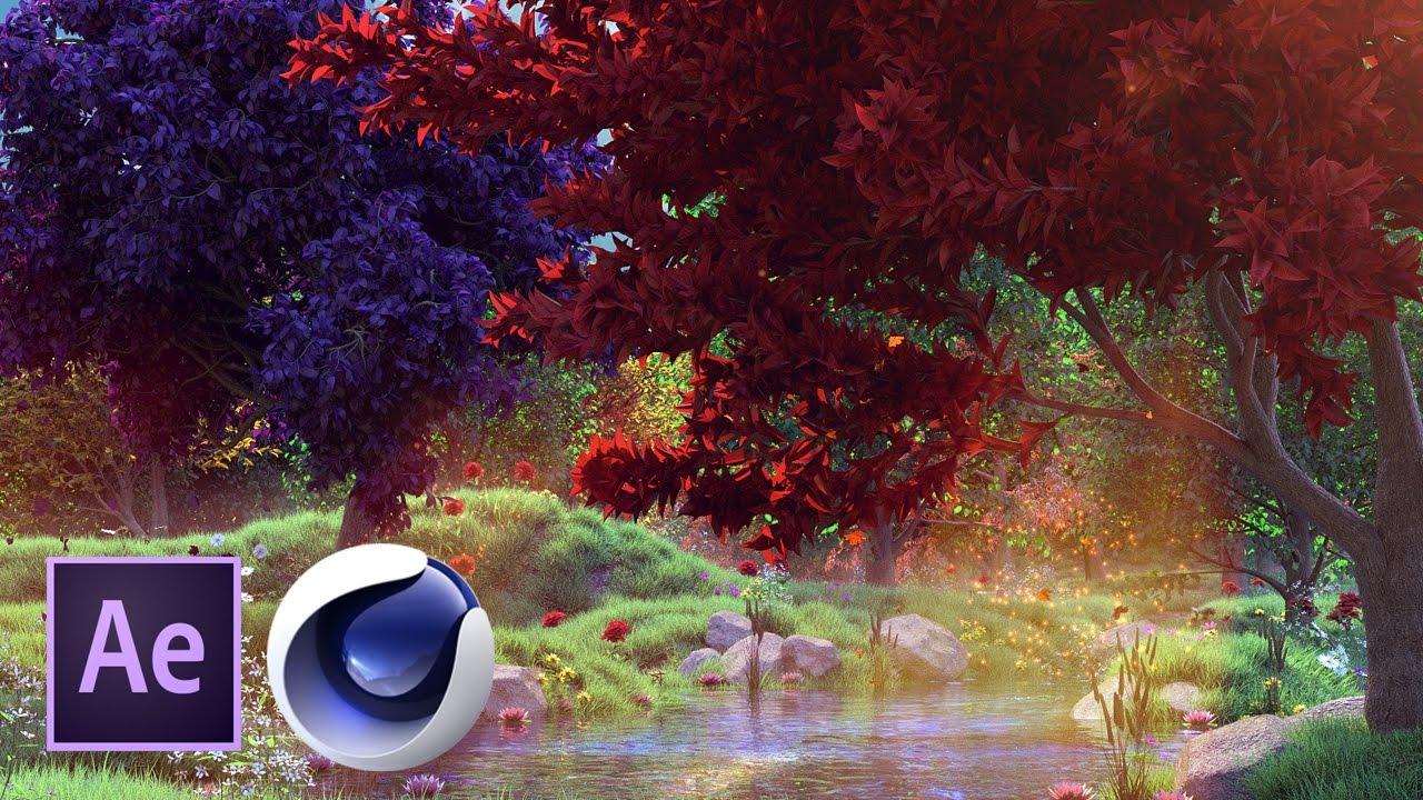 Сказочный лес в Cinema 4D и After Effects. Часть 1 из 4